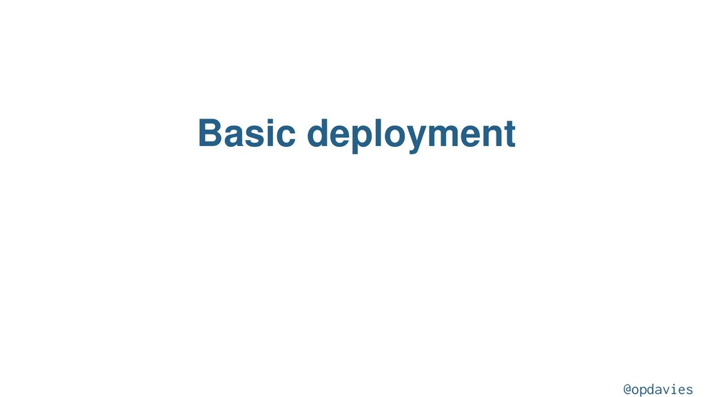 Basic deployment @opdavies