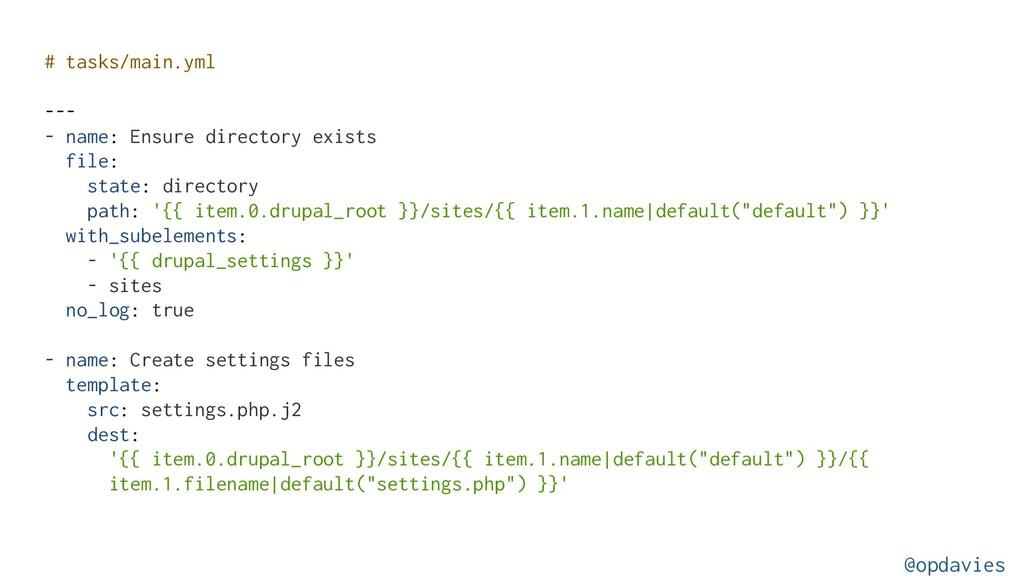 # tasks/main.yml --- - name: Ensure directory e...