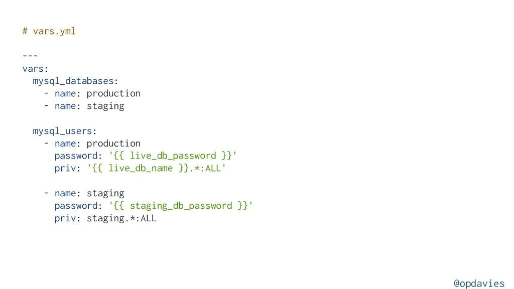 # vars.yml --- vars: mysql_databases: - name: p...