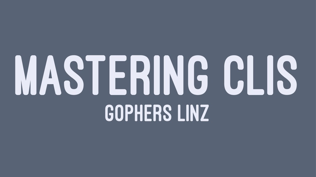 MASTERING CLIS GOPHERS LINZ