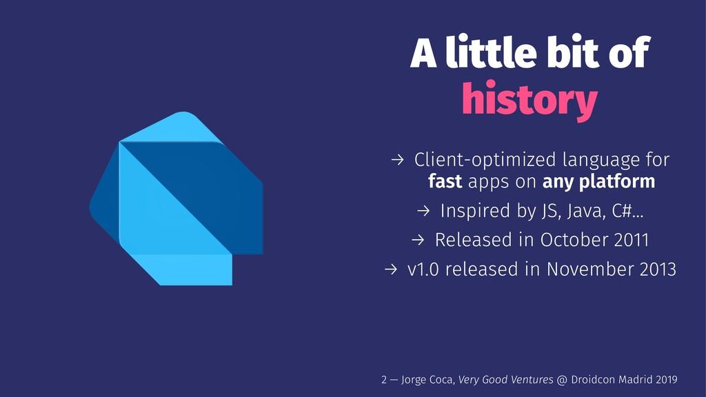A little bit of history → Client-optimized lang...