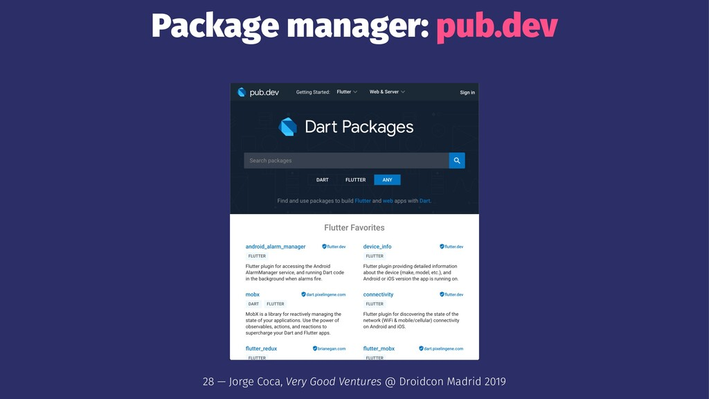 Package manager: pub.dev 28 — Jorge Coca, Very ...