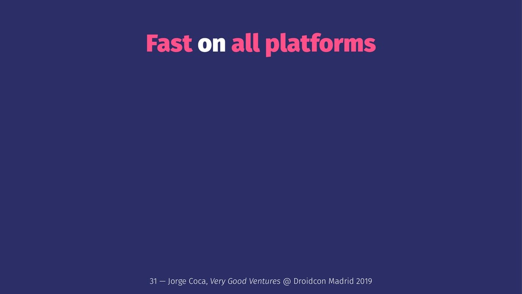 Fast on all platforms 31 — Jorge Coca, Very Goo...