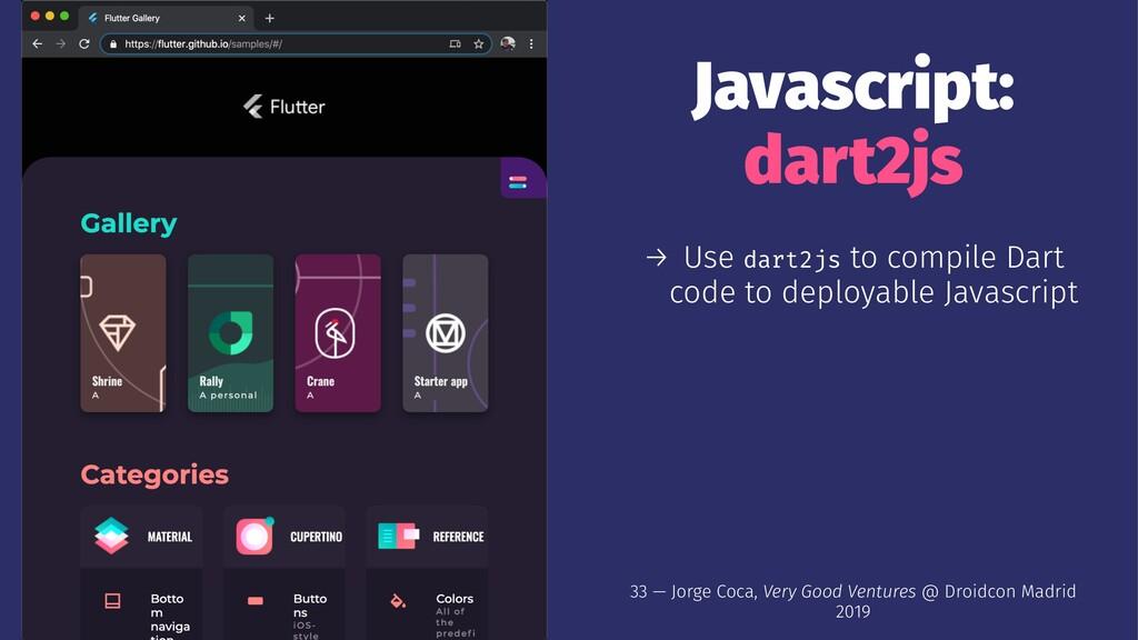 Javascript: dart2js → Use dart2js to compile Da...