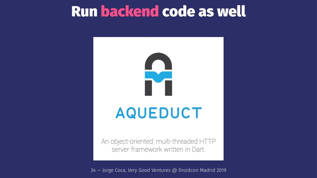 Run backend code as well 34 — Jorge Coca, Very ...
