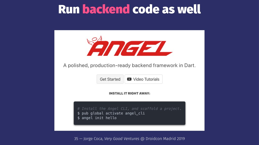 Run backend code as well 35 — Jorge Coca, Very ...