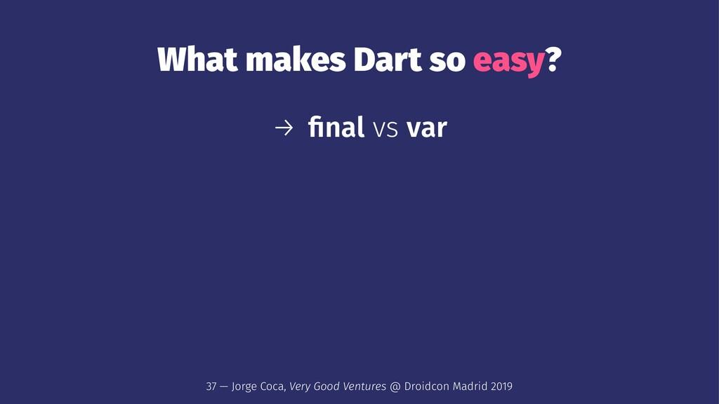What makes Dart so easy? → final vs var 37 — Jor...