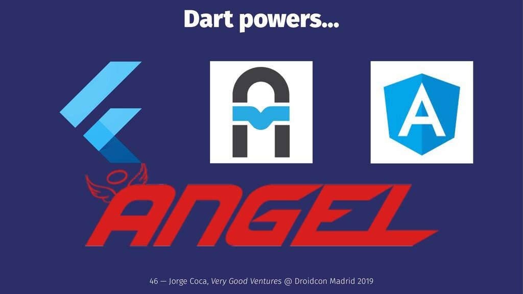 Dart powers... 46 — Jorge Coca, Very Good Ventu...
