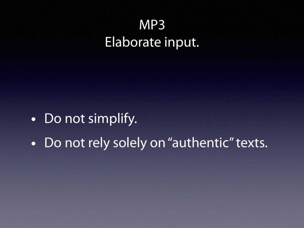 MP3 Elaborate input. • Do not simplify. • Do no...