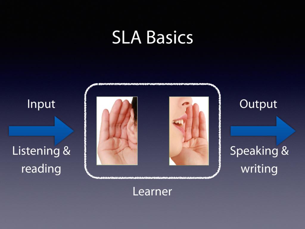 SLA Basics Learner Input Output Listening & rea...
