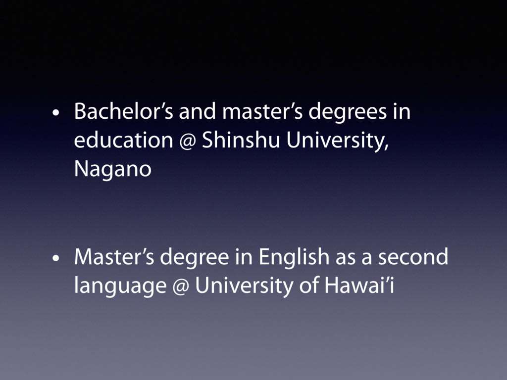 • Bachelor's and master's degrees in education ...