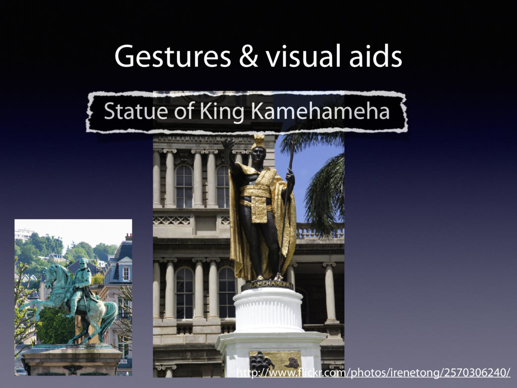 Gestures & visual aids http://www.flickr.com/pho...