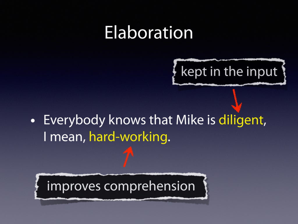 • Everybody knows that Mike is diligent, I mean...