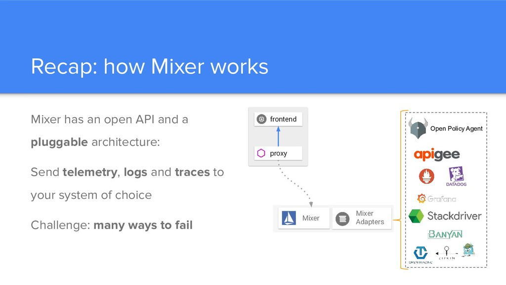 Recap: how Mixer works Mixer has an open API an...