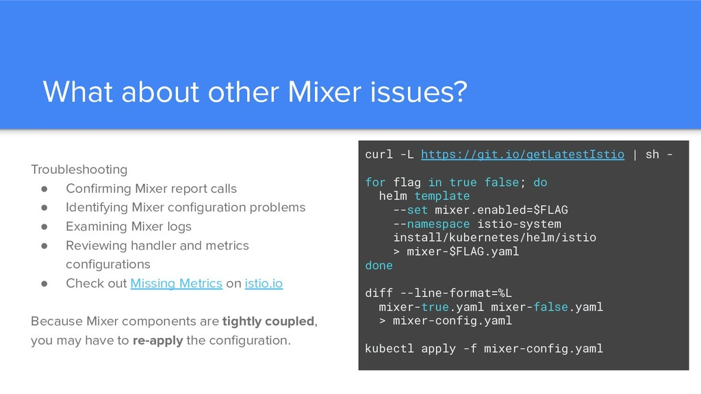 What about other Mixer issues? Troubleshooting ...