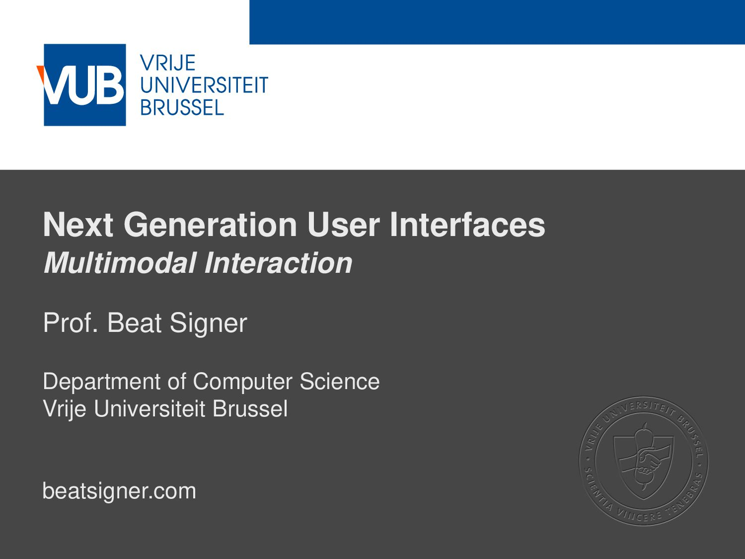 2 December 2005 Next Generation User Interfaces...