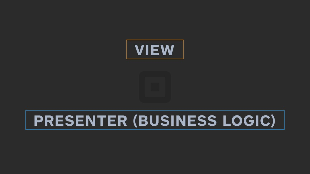 VIEW PRESENTER (BUSINESS LOGIC) READING WRITING