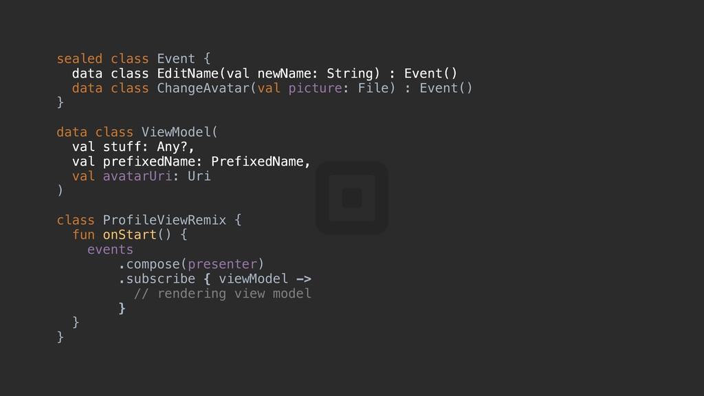 sealed class Event { data class EditName(val ne...