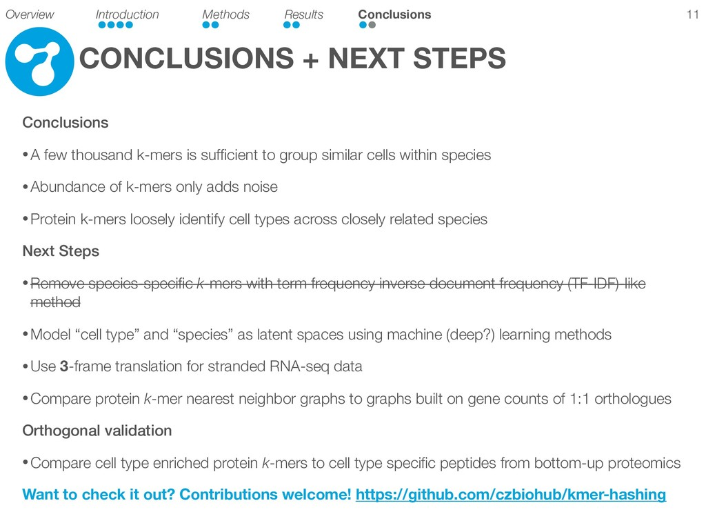 CONCLUSIONS + NEXT STEPS Conclusions • A few th...