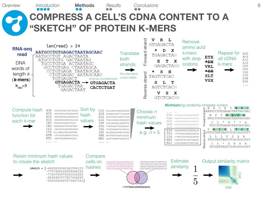 """!8 COMPRESS A CELL'S CDNA CONTENT TO A """"SKETCH""""..."""