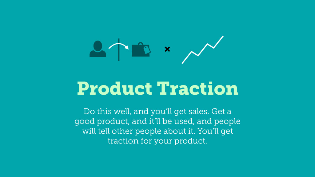Product Traction ✖ Do this well, and you'll get...