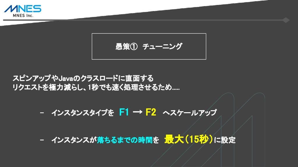 - インスタンスタイプを F1 → F2 へスケールアップ 愚策① チューニング - インスタ...