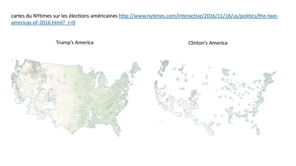 cartes du NYtimes sur les élections américaines...