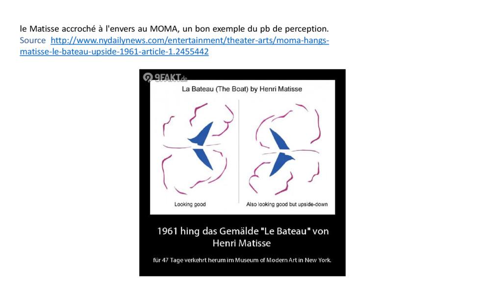 le Matisse accroché à l'envers au MOMA, un bon ...