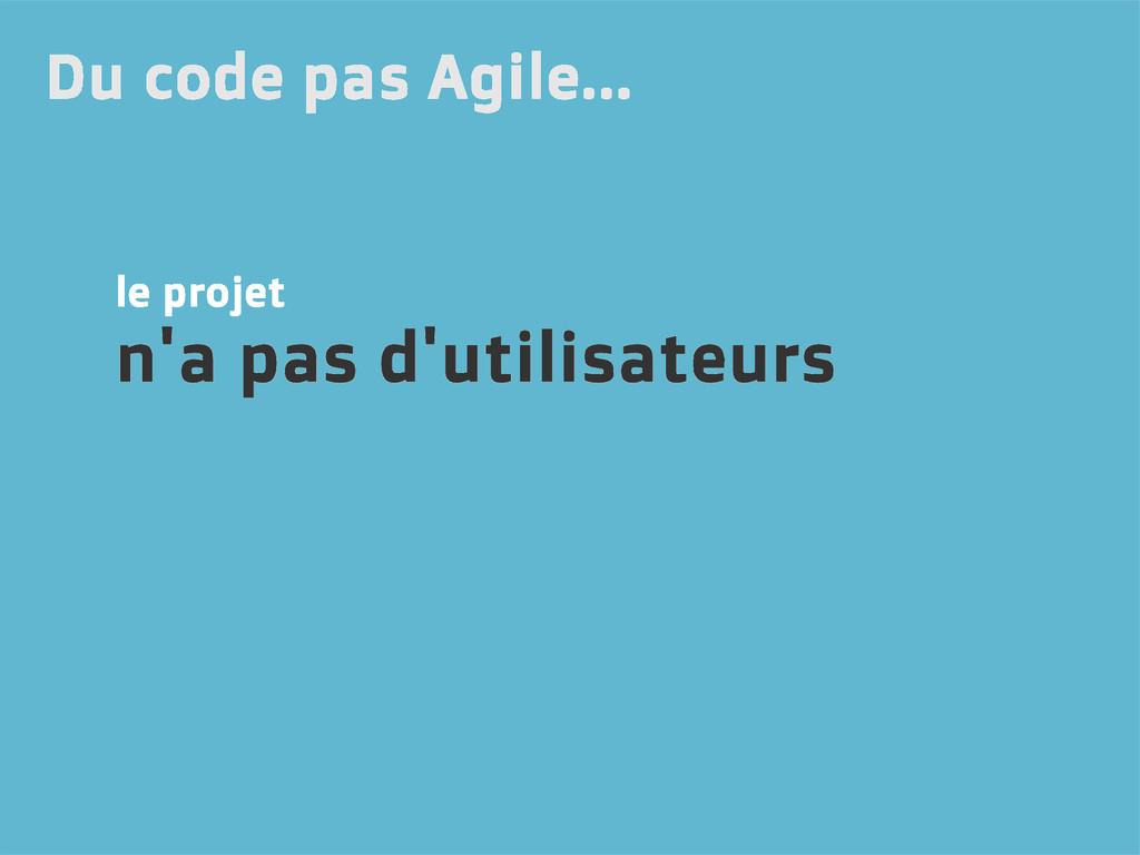 le projet n'a pas d'utilisateurs Du code pas Ag...
