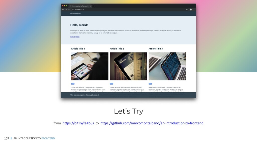 AN INTRODUCTION TO FRONTEND 107 from https://bi...