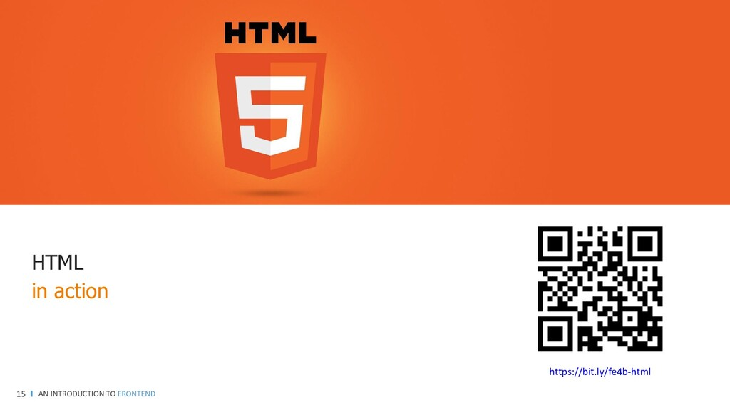 AN INTRODUCTION TO FRONTEND 15 HTML in action h...