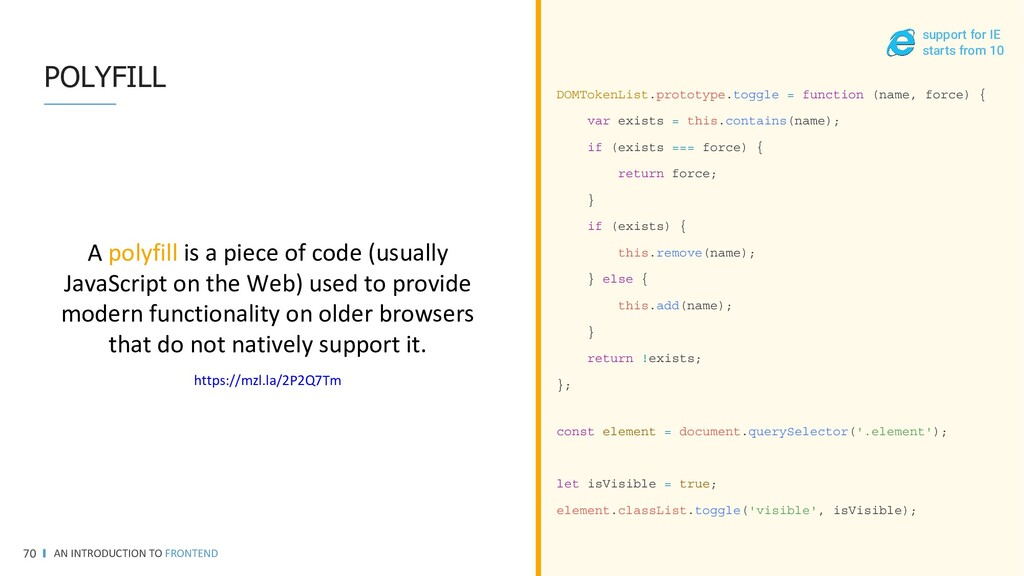 SCSS • VARIABLES AN INTRODUCTION TO FRONTEND 70...