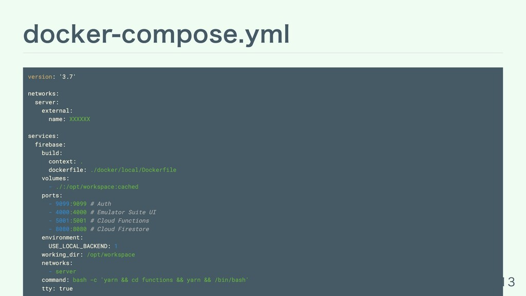 docker-compose.yml version: '3.7' networks: ser...