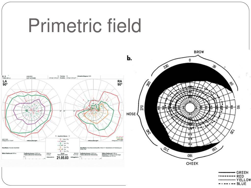 Primetric field