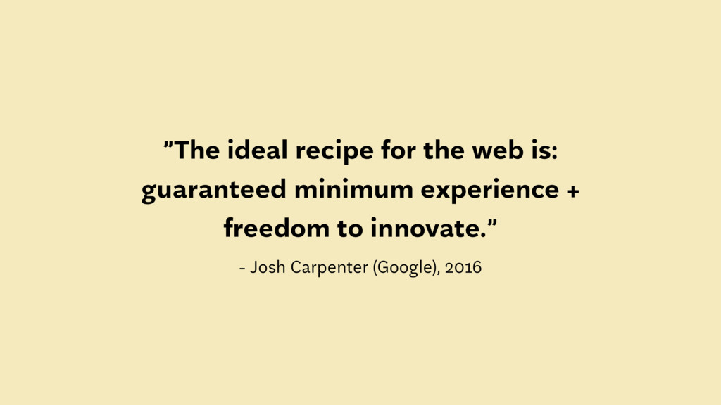 """""""The ideal recipe for the web is: guaranteed mi..."""