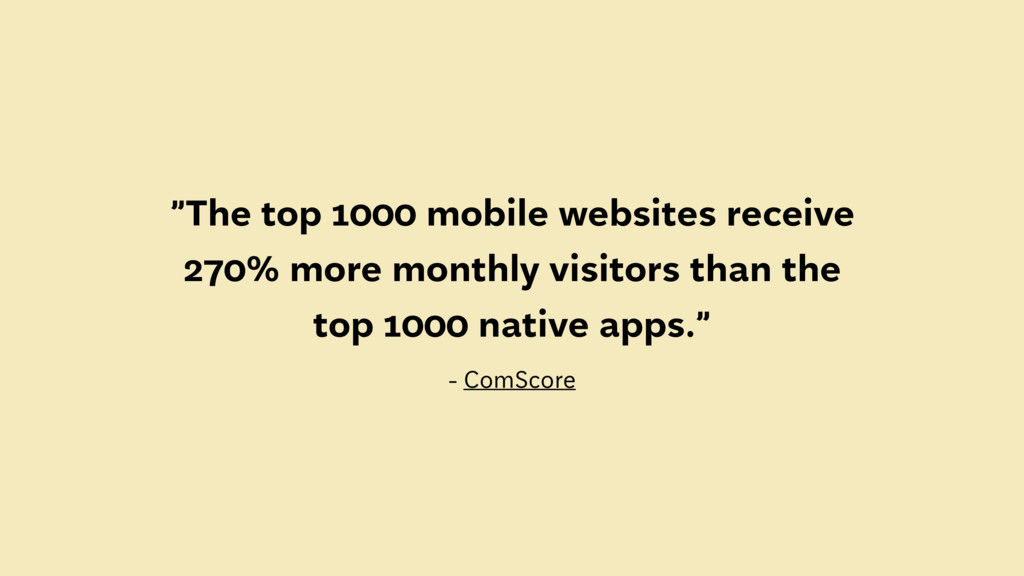 """""""The top 1000 mobile websites receive 270% more..."""