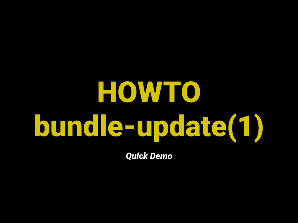 HOWTO bundle-update(1) Quick Demo