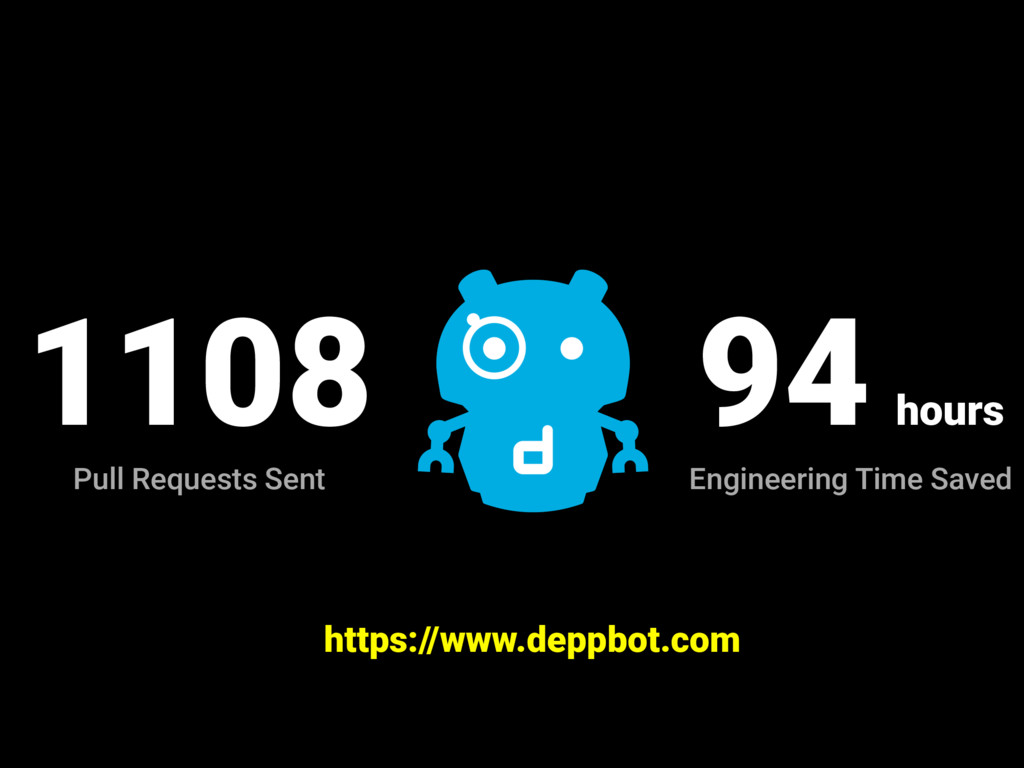 https://www.deppbot.com 1108 Pull Requests Sent...