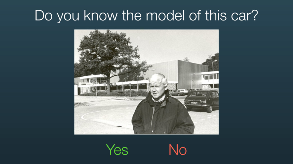 Yes No Do you know the model of this car?