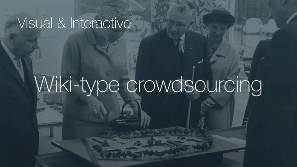 Wiki-type crowdsourcing Visual & Interactive