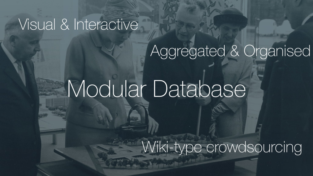 Modular Database Wiki-type crowdsourcing Aggreg...