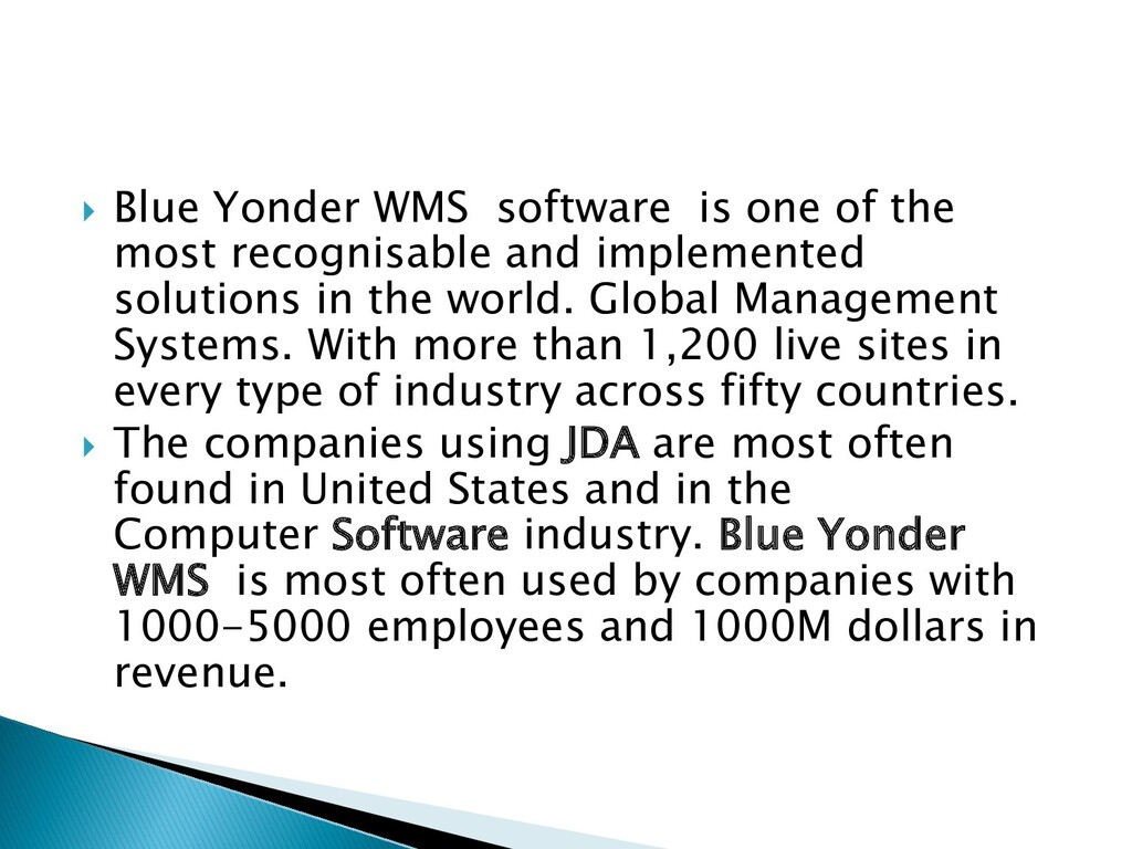  Blue Yonder WMS software is one of the most r...