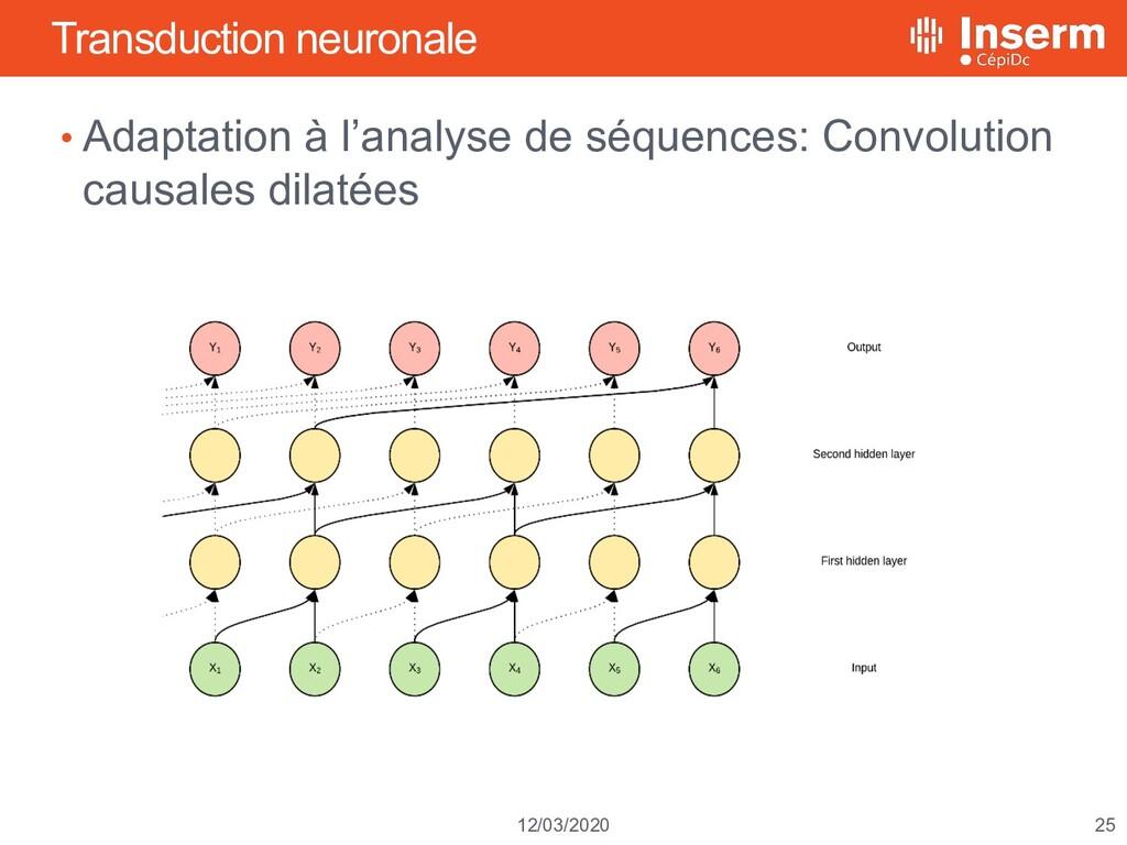 25 12/03/2020 Transduction neuronale • Adaptati...