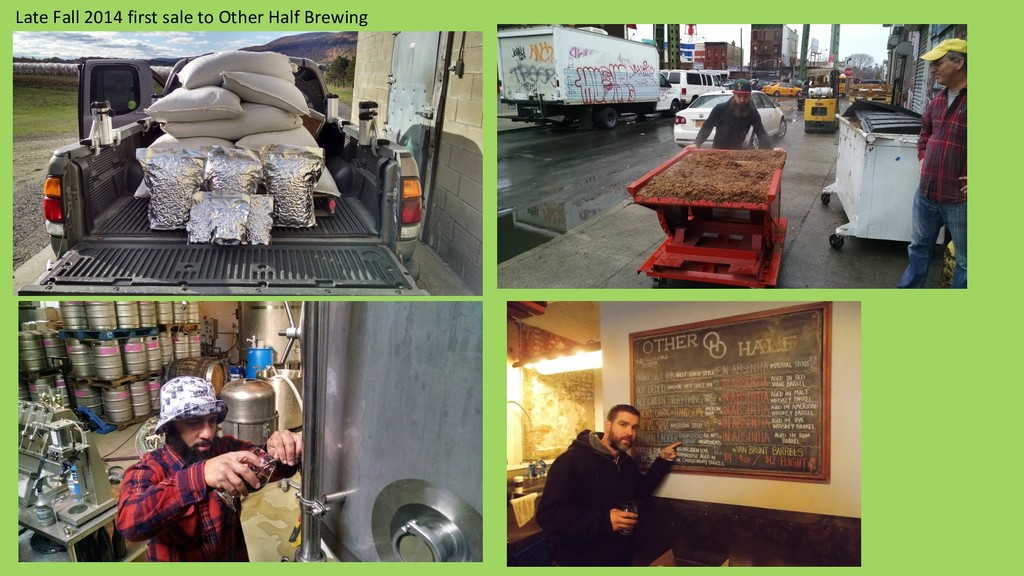 Late Fall 2014 first sale to Other Half Brewing
