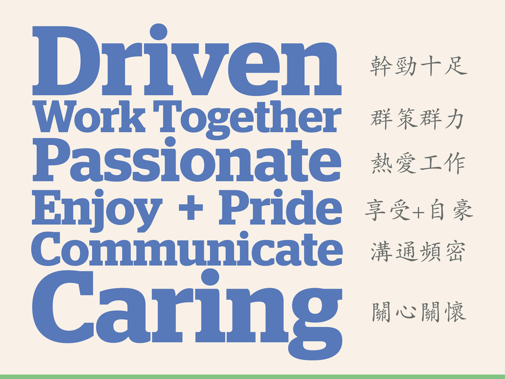 Driven Enjoy Pride + Communicate Passionate Wor...