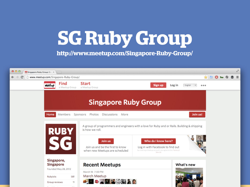 SG Ruby Group http://www.meetup.com/Singapore-R...