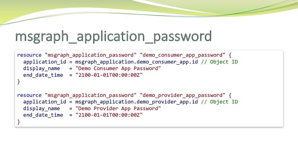 """msgraph_application_password resource """"msgraph_..."""