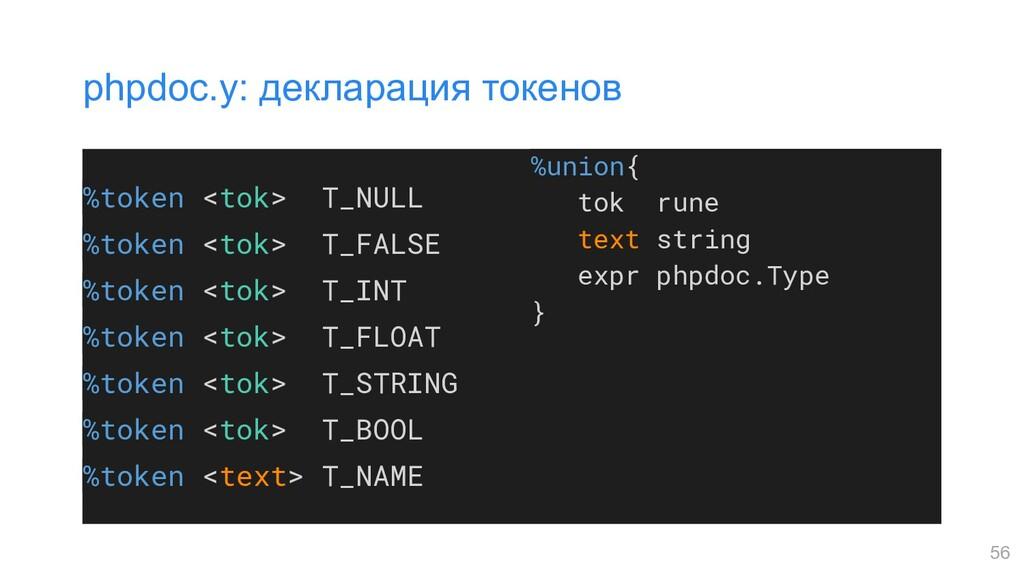 %token <tok> T_NULL %token <tok> T_FALSE %token...