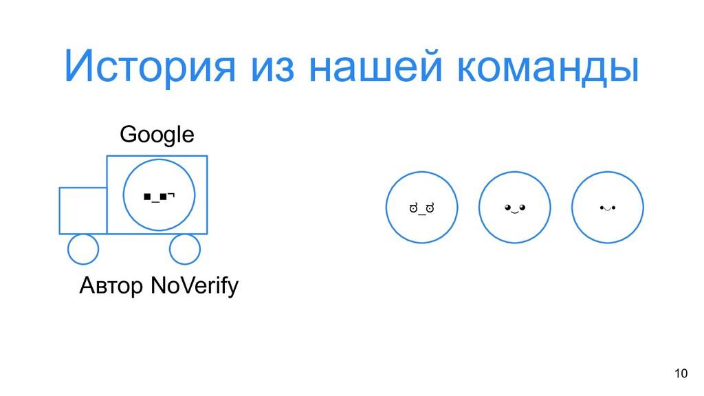История из нашей команды 10 ಠ_ಠ ◕‿◕ •◡• Google ...