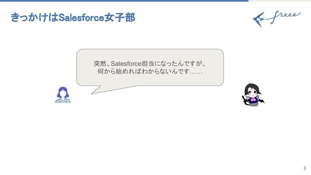 きっかけはSalesforce女子部 3 突然、Salesforce担当になったんですが、 何...